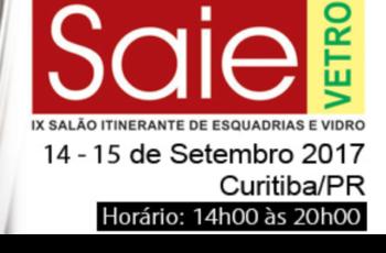 Salão Itinerante de Esquadrias e Vidro | 14 e 15 de setembro de 2017