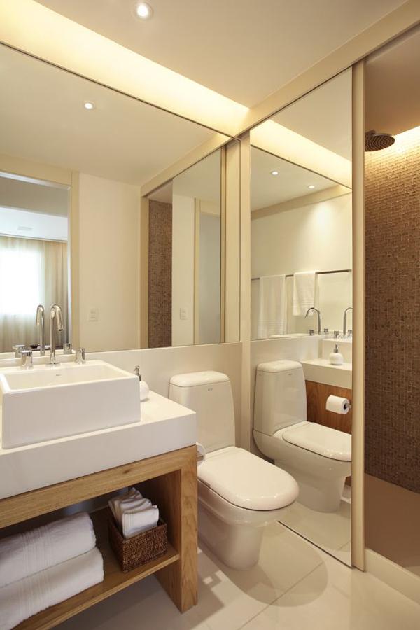Pisos e revestimentos para banheiro, uma seleção especial para você! -> Banheiro Pequeno Casal