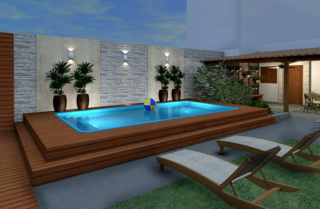 Piscina de fibra de vidro entenda antes arquitetura for Modelos de piscinas medianas