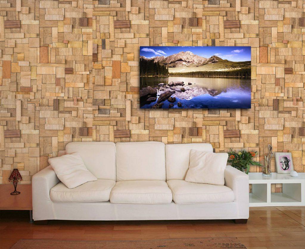 Papel de parede 3d decorar nunca foi t o f cil e for Sala de estar com papel de parede 3d