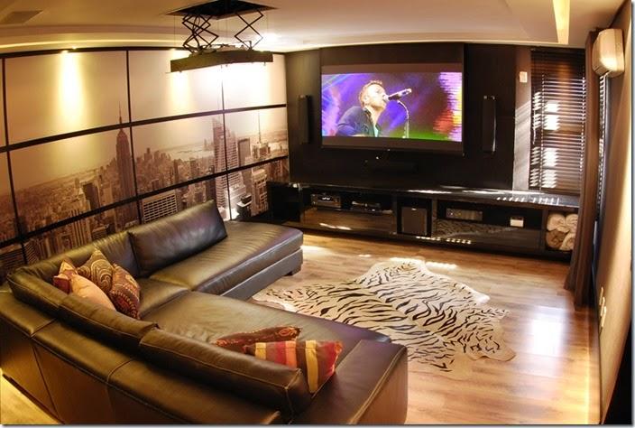 Sala de cinema em casa veja dicas incr veis para montar o seu cinema em casa - Sala home theatre ...
