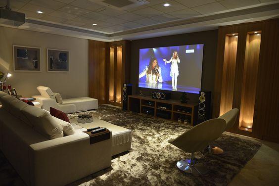 Sala de cinema em casa veja dicas incr veis para montar - Montar un cine en casa ...