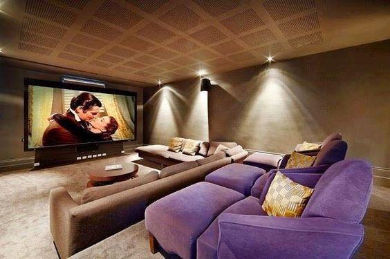Sala De Tv No Sotao ~ Não existe um tamanho ideal de uma sala de cinema , tudo irá