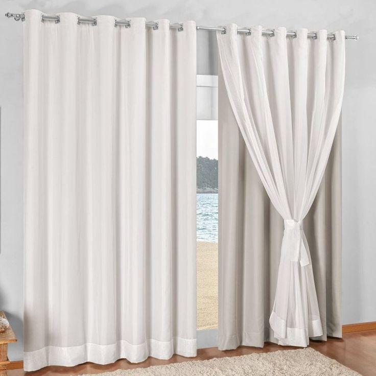 Cortinas na decora o quais os tipos e qual a maneira - Tipo de cortinas ...