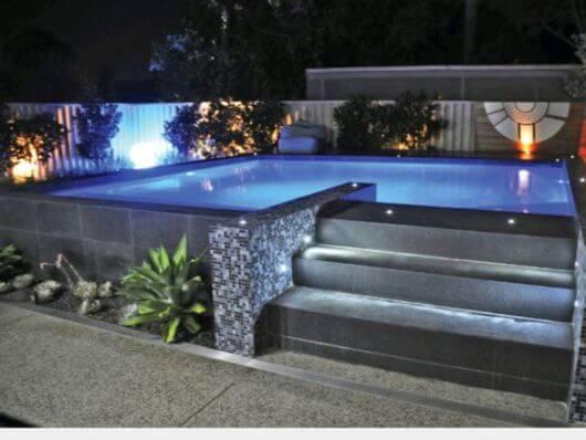 Piscinas elevadas a melhor op o para quem quer for Decorar piscina elevada