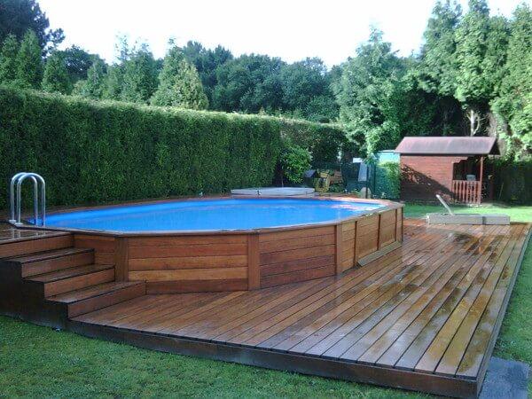 Piscinas elevadas a melhor op o para quem quer for Piscinas en el patio de la casa
