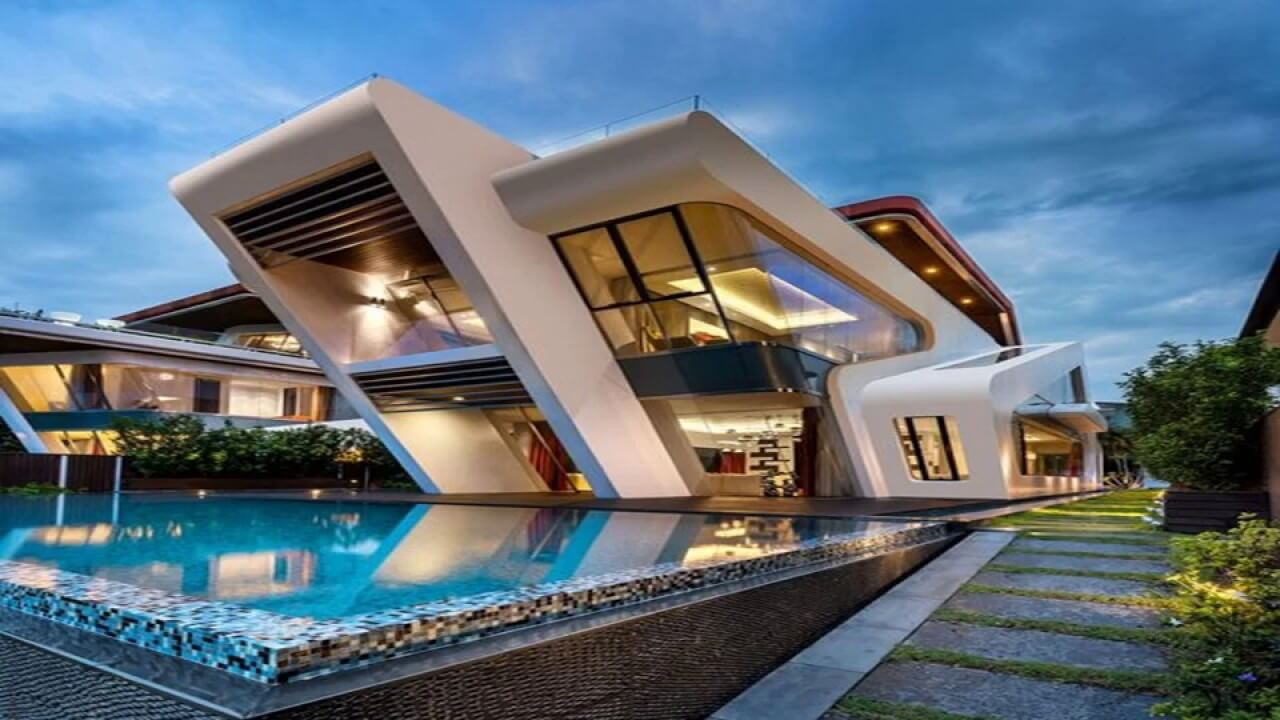 Arquitetura futurista projeto moderno casa moderna Fotos de interiores de casas modernas