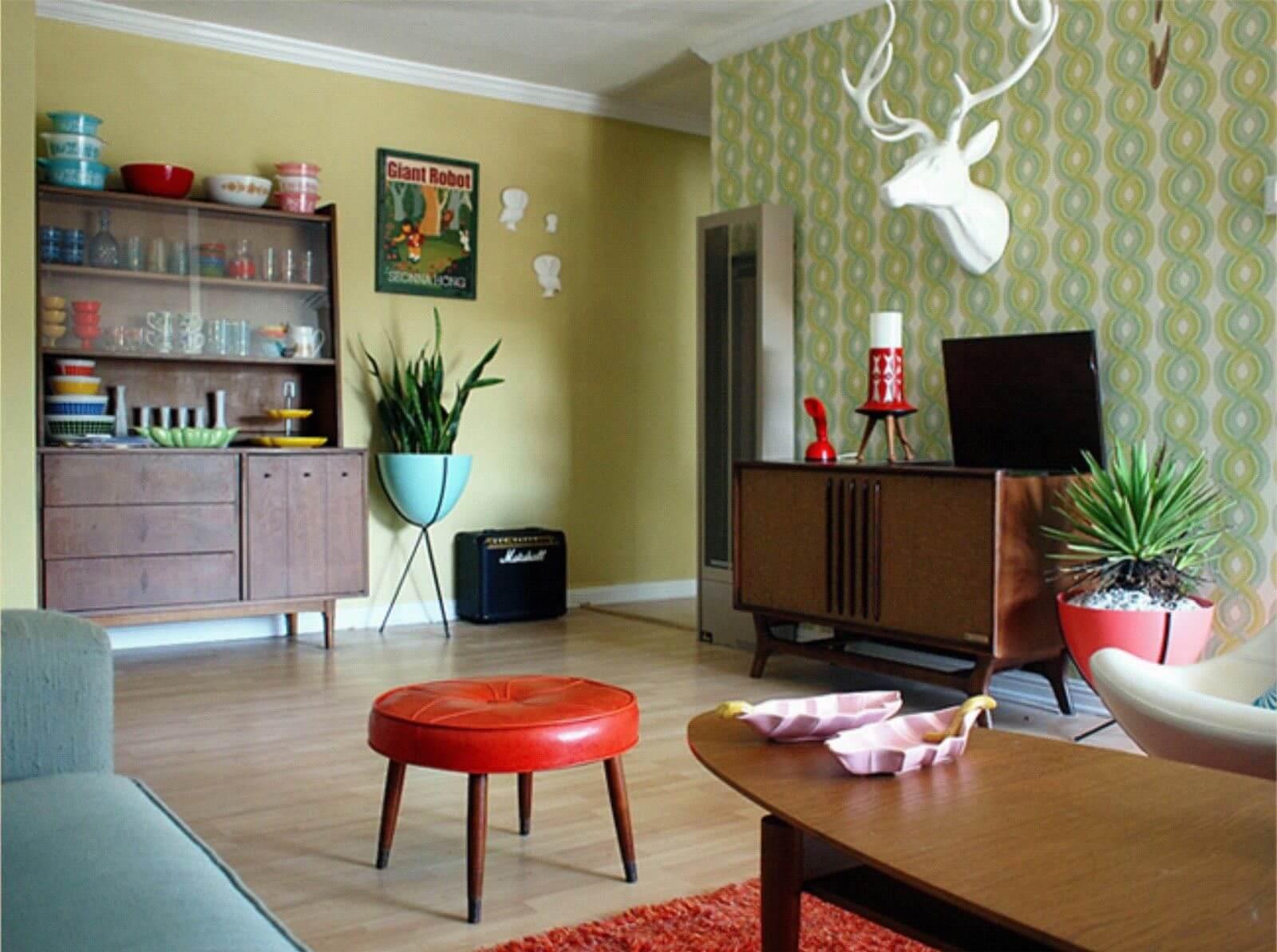 Sala com estilo de Decoração retro - estilo de decoração para quem gosta do estilo retro decor