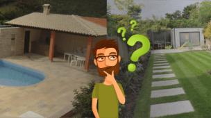quintal gramado ou cimentado?