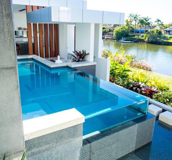 Tipos de piscinas - piscina de vidro