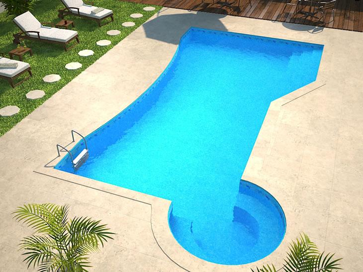 Modelos de piscinas - piscina de vinil