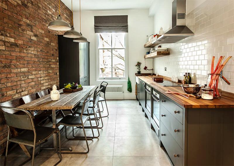 02-cozinha-estilo-industrial-tijolinho estilo-industrial-na-decoracao-entenda antes, estilo de decoração, cozinha com estilo de decoração industrial
