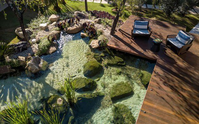 lagos artificiais, piscinas naturais e lagos ornamentais