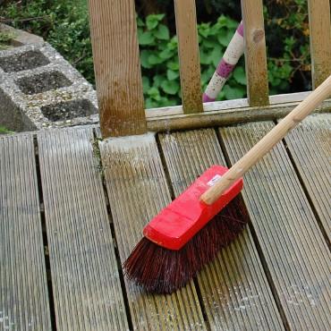 limpeza de deck de pvc