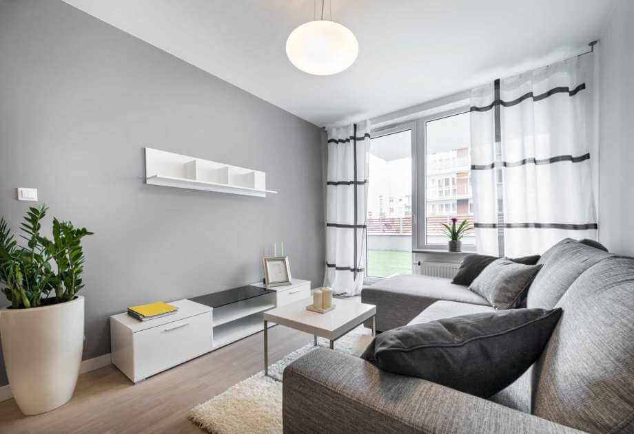 decoração minimalista sala de estar, sala te tv