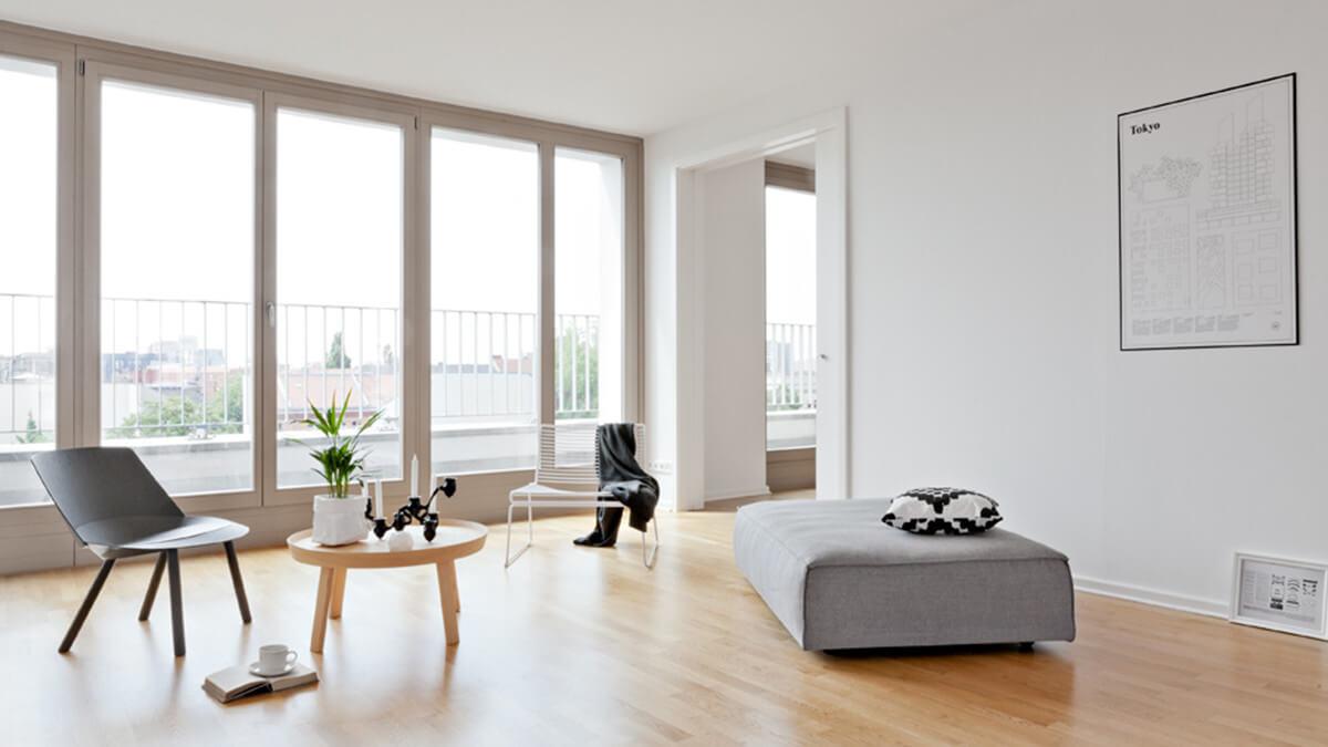 sala de estar estilo minimalista de decoração