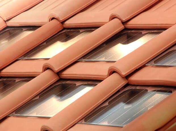 Ilustração de uma Telha Cerâmica Fotovoltaica