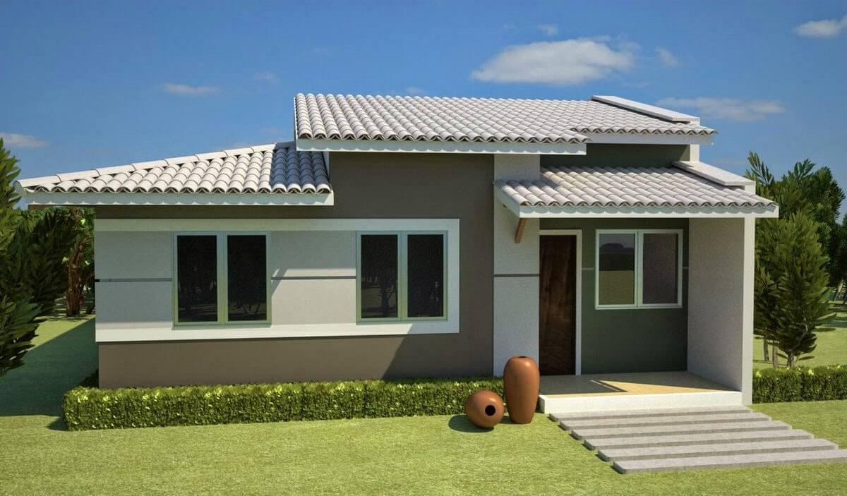Ilustração de um telhado sobreposto