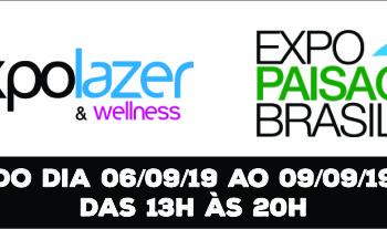 Expolazer e Expo Paisagismo Brasil 2019 | 06 à 09 de Setembro de 2019