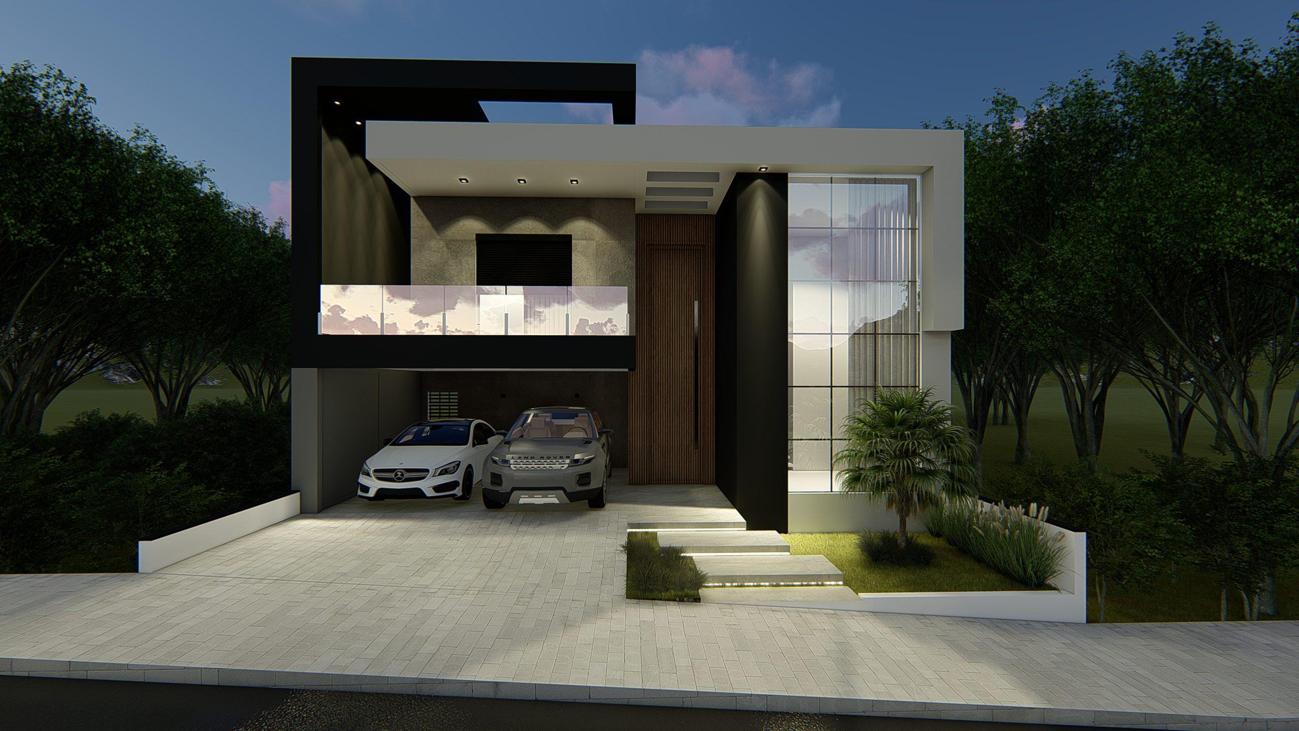 Fachadas de casa contemporânea | Clique para ver Projeto EA-107.