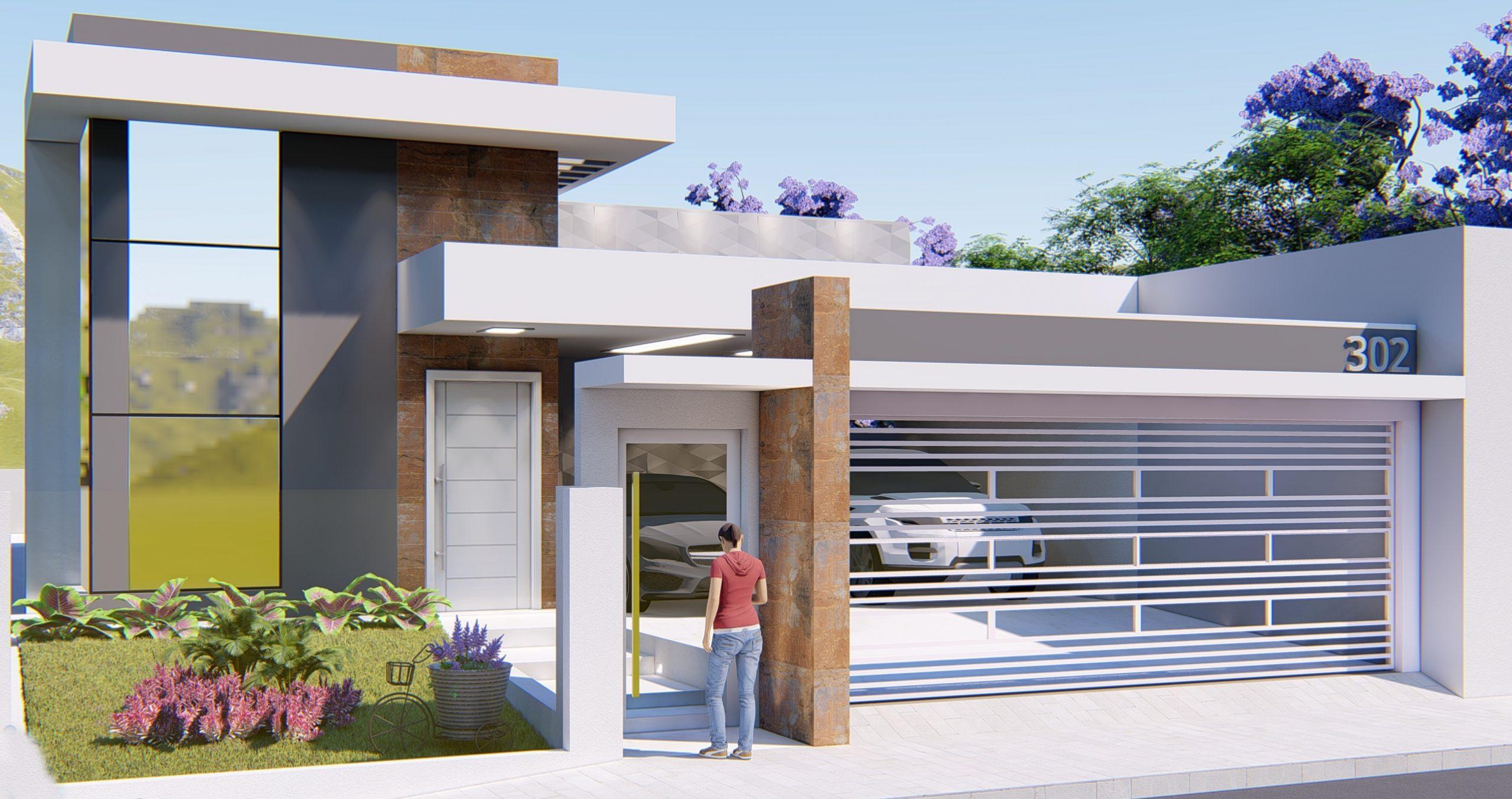 fachadas de casa contemporânea