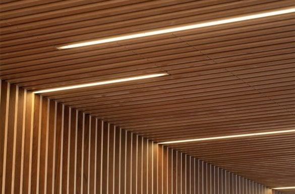 Forro ripado de madeira e iluminação com fita de LED - Entenda Antes