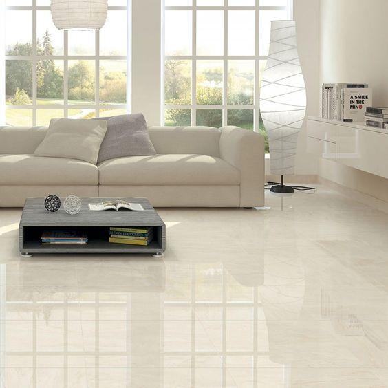 ilustrar um ambiente com o piso de porcelanato polido