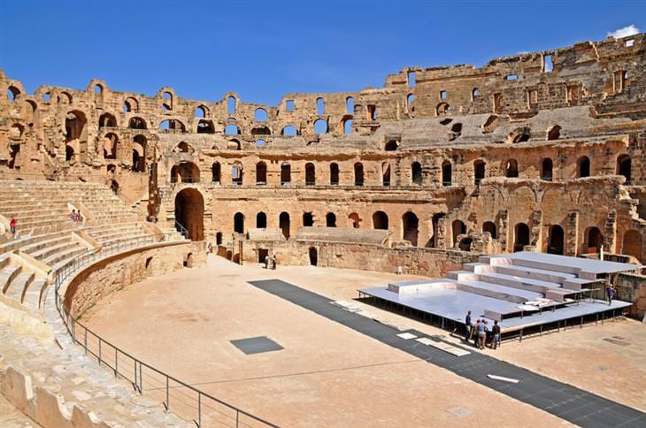 o anfiteatro de El Jem