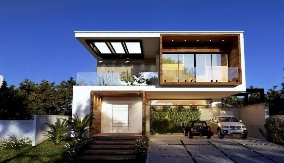 Uma fachada contemporânea