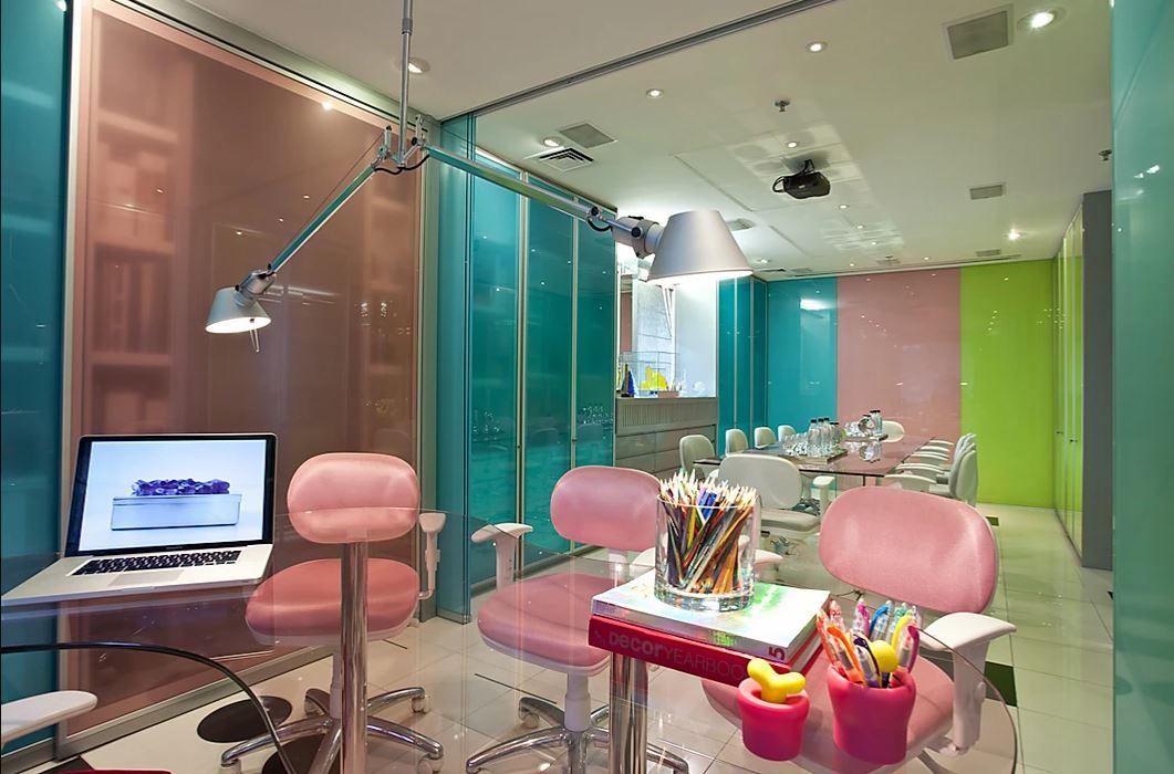 O escritório da Brunete Fraccaroli, projetado pela mesma.
