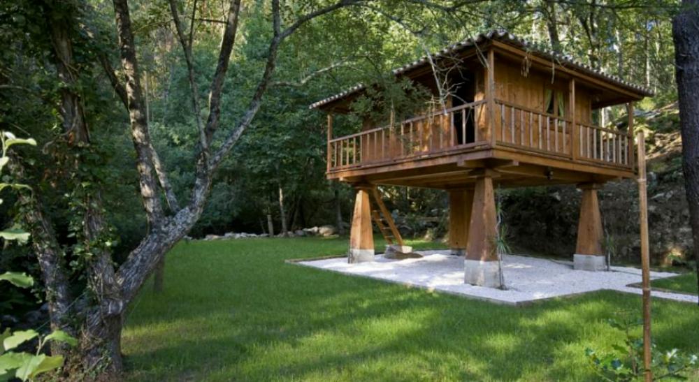 construção sustentável - casa de madeira