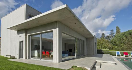 Casa pré moldada de concreto