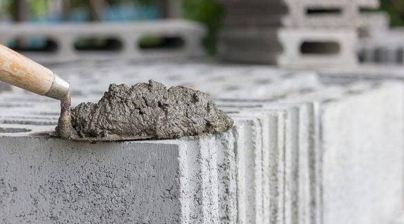 mostrar uma parede de concreto