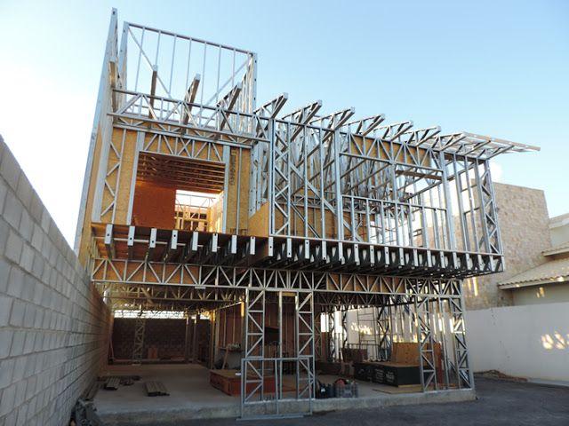 Casa pré-fabricada em steel frame