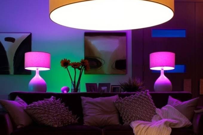 Como fica a luz inteligente na sala