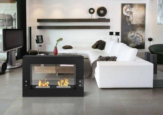 lareiras para ambientes integrados
