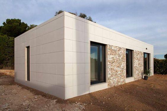 casas pré-fabricadas em isopor - moderna