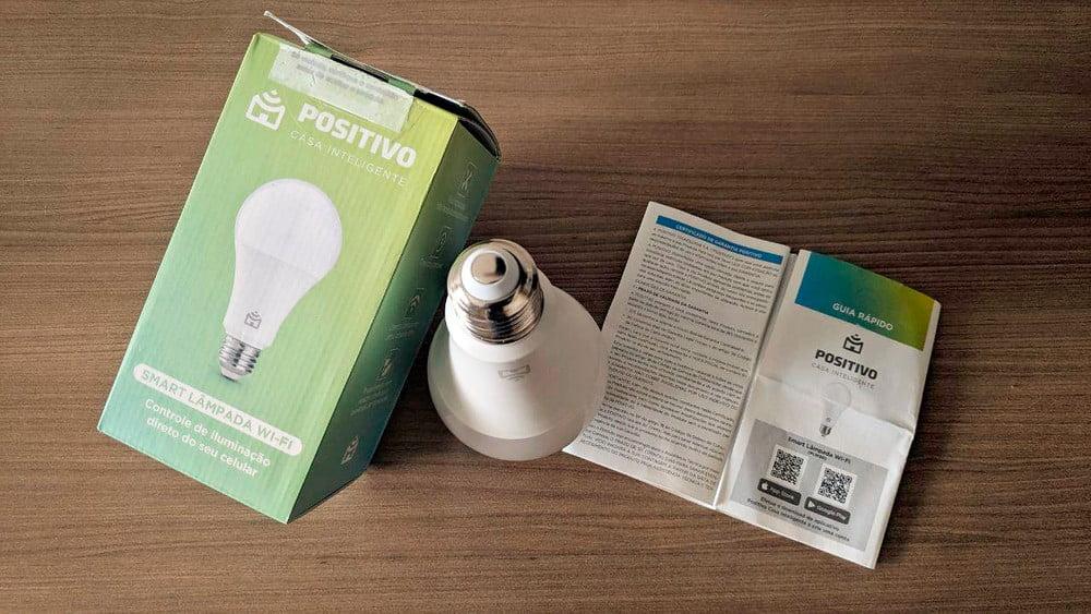 Luz inteligente: Positivo Smart Lâmpada Wi-Fi