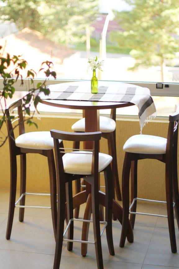 Mesas para área de lazer: Bistrô elegante