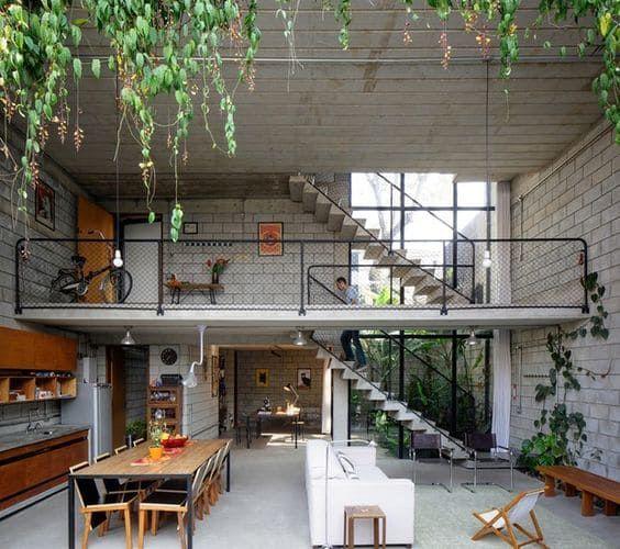 casas pré-fabricadas em concreto estilo loft