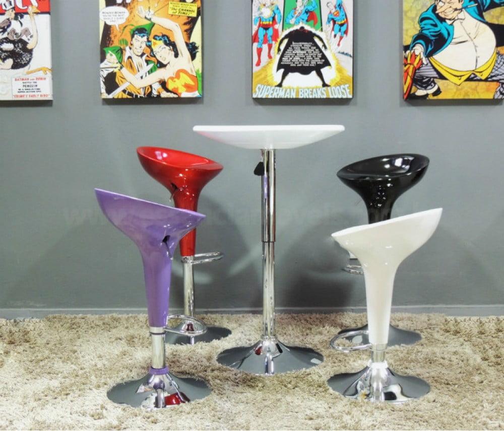 Mesas para área de lazer: bistrô coloridos