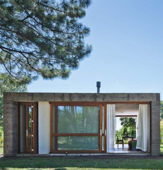 casas pré-fabricadas em concreto estilo budista