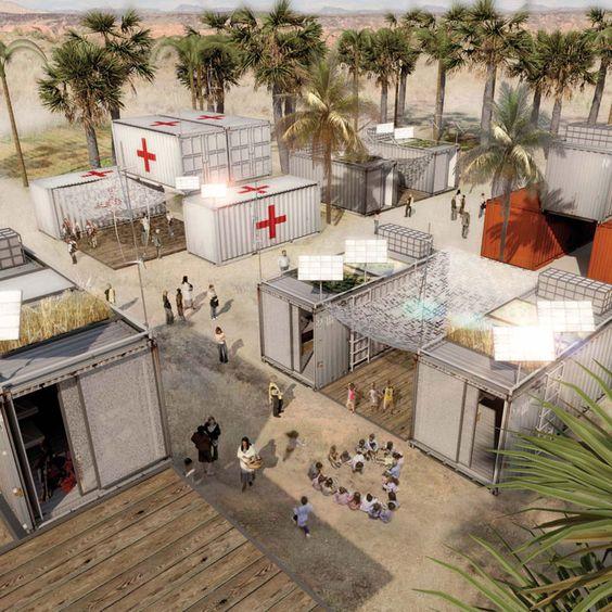Construção modular hospitalar pré-fabricada sendo usada no combate ao covid19