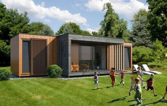 casas pré-fabricadas em concreto container