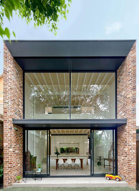casas pré-fabricadas em concreto e vidros