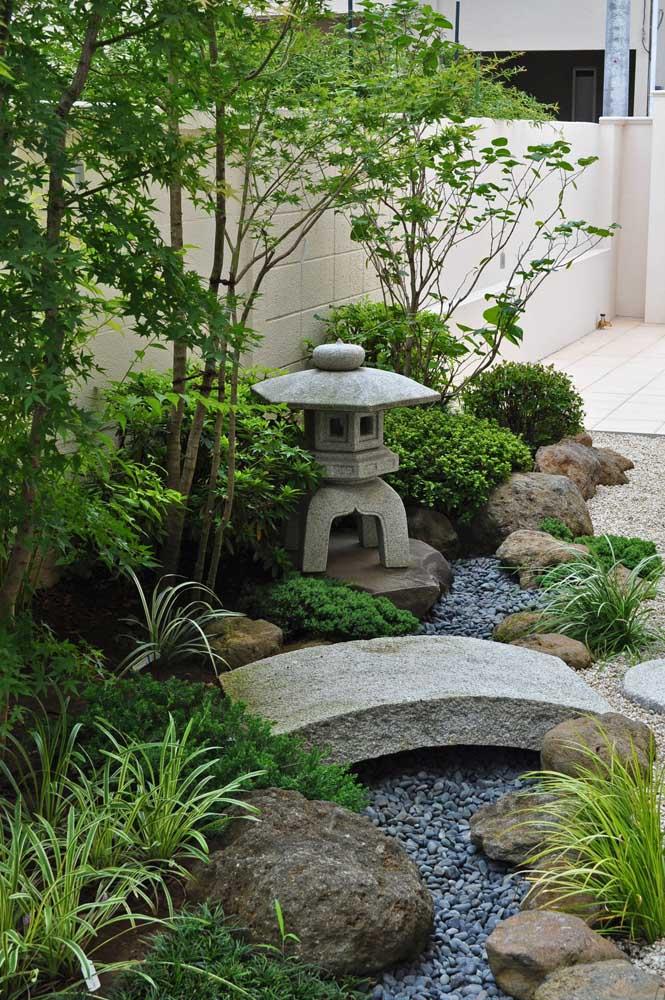 Luzes para jardim japonês