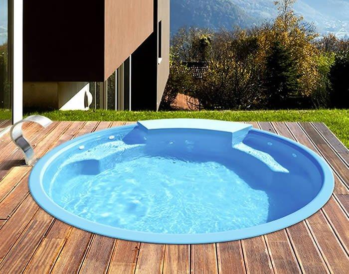 Modelo jacuzzi de piscina de fibra