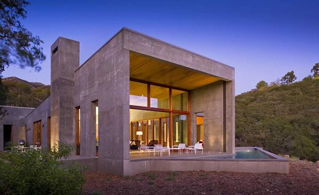 acabamento externo de concreto