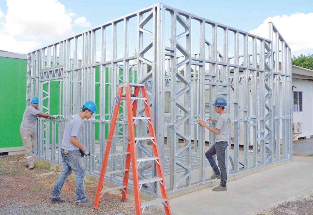 Por que o Steel Frame é é chamado de construção rápida?