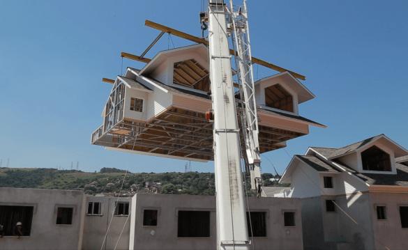 O que significa construção branca em Steel Frame?